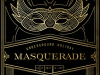 Masquerade Holiday Invite