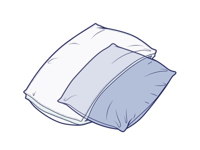 Pillow in a pillow technical transparency illustrator line art illustration pillow