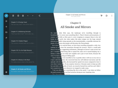 Creative Writing Software ux word processor ui design ui creative writing