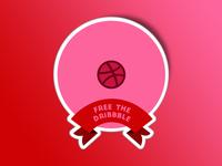Freethedribbble Sticker