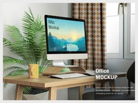 Imac Home Office Mockup