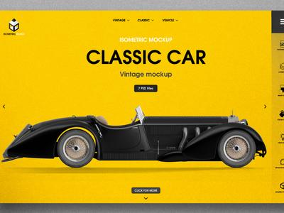Retro Classic Car mockup
