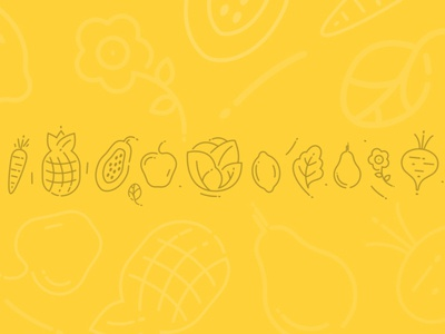 Icons for Cold pressed juice