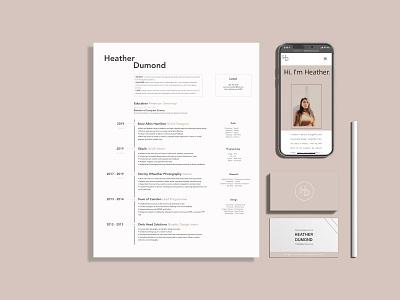 Personal Branding Package design branding resume design resume personal branding