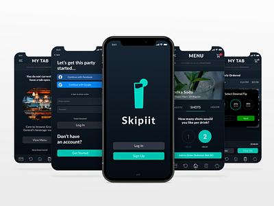 Skipiit: A Mobile Drink Ordering App ux design app ui app concept ui showcase mobile ui ui app design