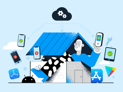 Test from home iosapp android app app test infrastructure developer work from home mobile app cloud appstore playstore ui product browsers 2d app mobile browserstack design testing illustration