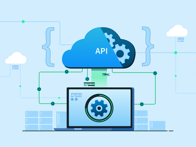 World of APIs api programming connected mobile devices automation developer code cloud app product banner blog browsers 2d web browserstack testing design illustration