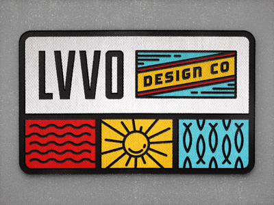 LVVO Design Co. | Patch patch california surf snap back hat apparel design vector sun sea fish rad icons
