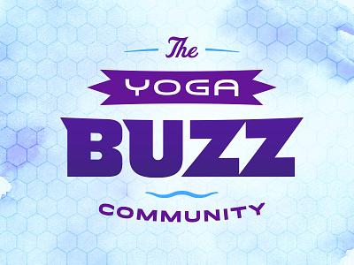 Yoga Buzz | Logo Exploration custom typography lockup community logo non profit lightning yoga