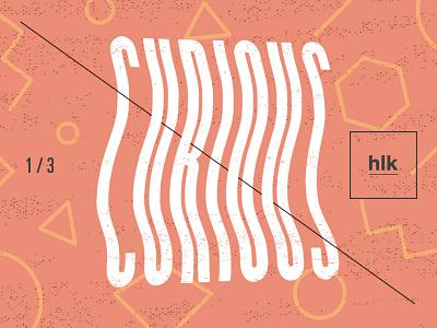 HLK | Brand Art — Test distortion rad pink avant garde simple geometric melty typography type