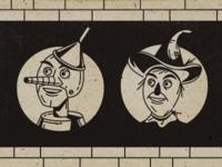Tin Man & Scarecrow
