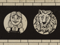 Dorothy & Cowardly Lion