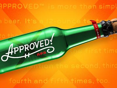 HLK Beer Works — Approved APA fun bottle green cork script approved beer champagne