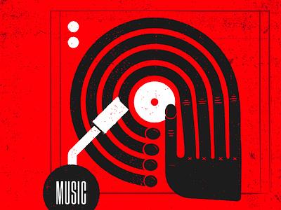 #STLmade —Music Illustration handmade grit hand music record vector design typography illustration