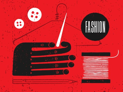 #STLmade —Fashion Illustration button hand fashion vector hand drawn design retro poster illustration