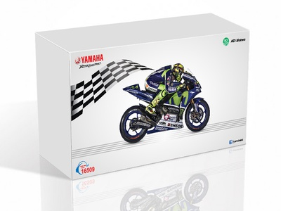 Yamaha Gift box Package Design motorbike print bike ride yamaha box box mockup package mockup packagedesign