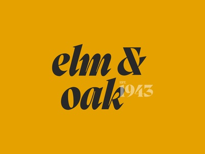 Elm & Oak identity collateral typography design logo creative direction brandidentity art direction logotype branding