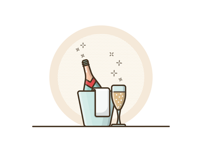 Happy New Year! illustration vector illustrator icon design new year bubbly champagne cheers