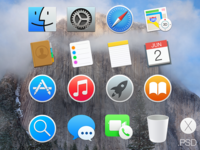 OS X Yosemite Icons