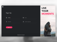 Daily UI #001 – Sign Up