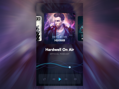 Music App play hardwell design app player music ux ui