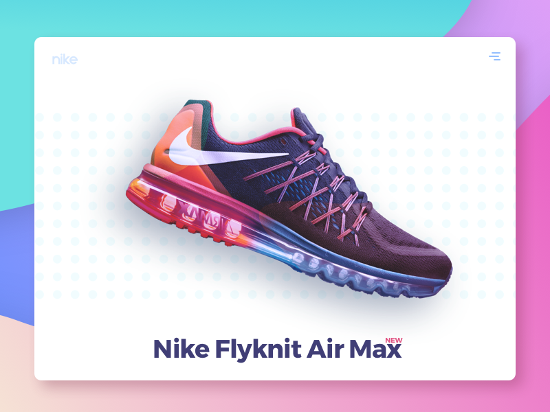 Minimal Header Concept minimal ux cart shopping shoe nike sketch colourful design ui