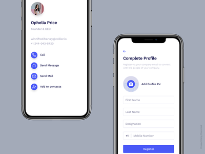Created Using Cleanmock form profile cleanmock clean sketch flat minimal app design ux ui
