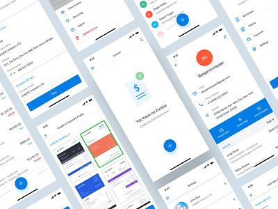 Invoice App ios payment listing invoice iphonex clean sketch app minimal design ux ui