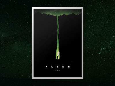 Alien Ore Film Poster fear trapped stars isolation spaceart sci-fi poster art film poster horror movie horror art horror illustration film poster fantasy art fantasy design alien40th alien