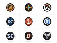 Blizzard - Game Icons (Vector)