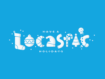 Locastic holiday card logotype illustration typography holiday