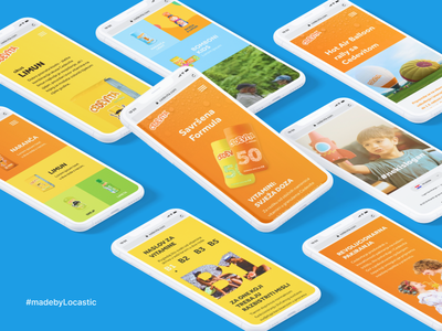 50 years of Cedevita branding website illustrations ux ui design ui