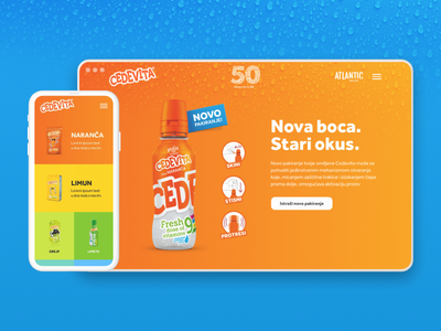 50 years of Cedevita branding website illustrations ux ui design ui