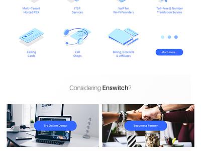 Enswitch (Integrics) website ui ux concept web design mockup preview agency locastic