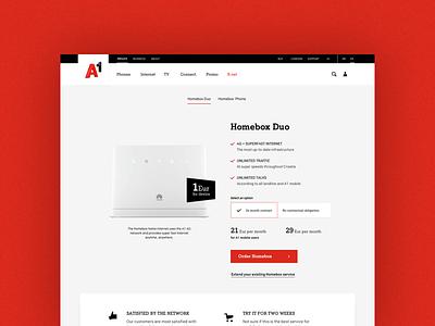 A1 Homebox Duo corporate design ui cart user experience webdesign web corporate