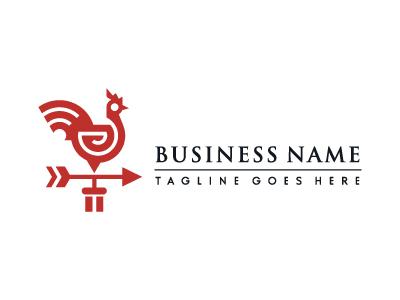 Rooster Weather Vane Logo