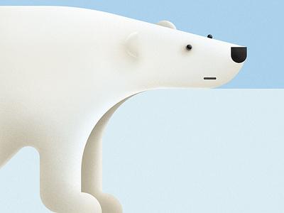 Polar bear antarctic arctic art winter white shape illustration polarbear bear polar