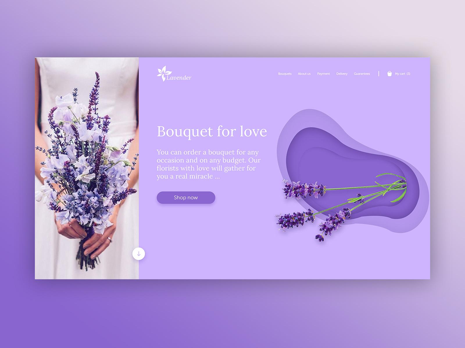 home screen concept flower salon by uliana dribbble