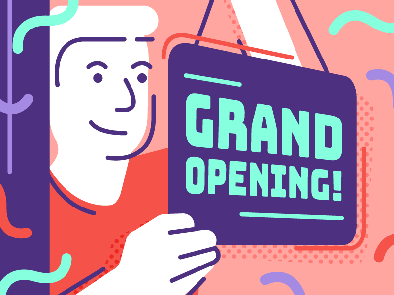 Grand Opening small business startup business new opening vector illustration