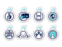 Icon set for security page
