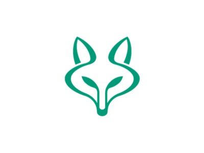 Organic Fox Logo design logo branding logo for sale ux ui flowers environmental friendly ecological green foxy vegetables agriculture growth stylish logo unique logo dynamic logo modern logo fox logo organic