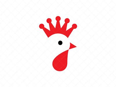 Rooster King Logo branding logo for sale ux ui crown logo king logo stylish logo clever logo modern logo unique logo creative logo rooster logo royal agriculture leadership cock comb design logo restaurant