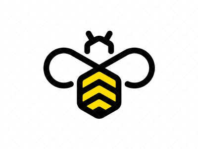 Abstract Bee Logo design branding ux ui logos logo ecological nature sweets flowers beekeeping apiculture sugar honey bee