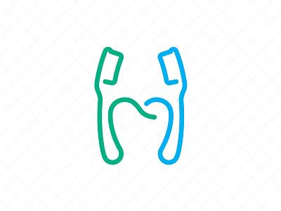 Oral Care Logo design branding logo for sale ux ui clever logo creative logo unique logo healthcare tooth stylized letter h logo toothpaste health logo care oral toothbrush dental hygiene
