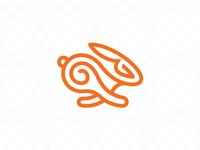 Abstract Running Rabbit Logo