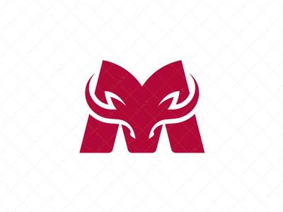 Letter M Bull Logo