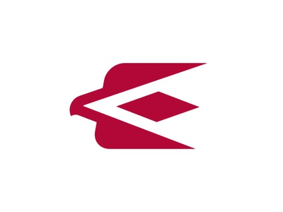 Unique E Eagle Logo