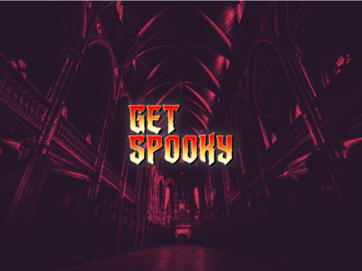Get Spooky photoshop fun daily type colour halloween digital typography