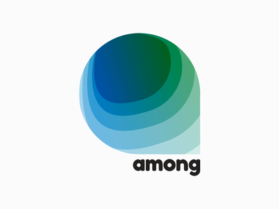 Among logo design logo identity graphic gradient design colourful clean branding brand app abstract