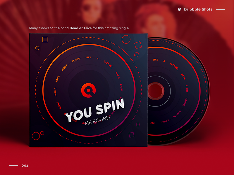 You Spin Me Round   CD Cover Artwork